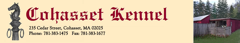 Cohasset Kennel, Quality Care for your Pet